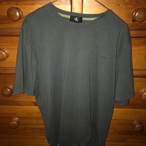 Vintage Calvin Klein Grey T-Shirt Size XL